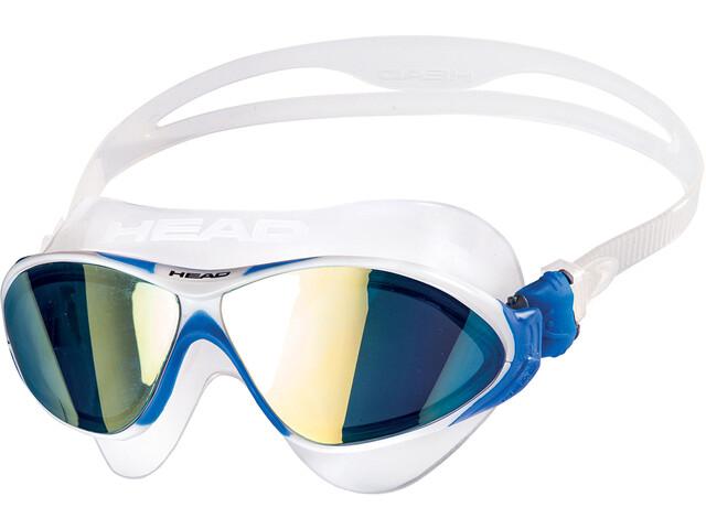 Head Horizon Mirrored Goggles clear/white/blue/blue